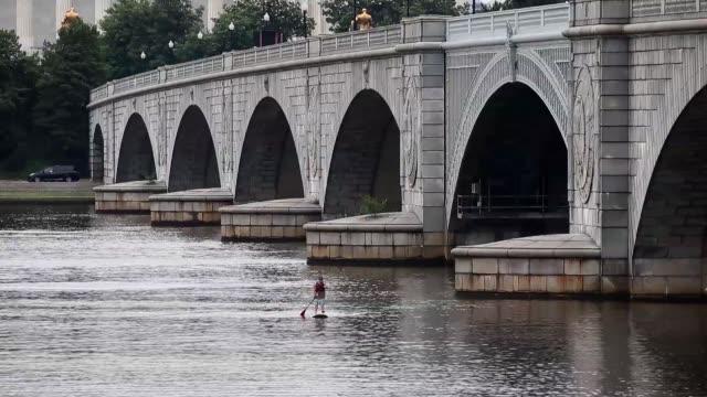 a boat passes under the drawbridge span of memorial bridge near the lincoln memorial june 5 2015 in washington dc the bridge is one of 61000 bridges... - drawbridge stock videos and b-roll footage