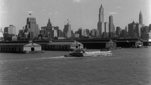 vídeos y material grabado en eventos de stock de boat point of view of new york skyline and harbor, new york state, usa - puerto de nueva york