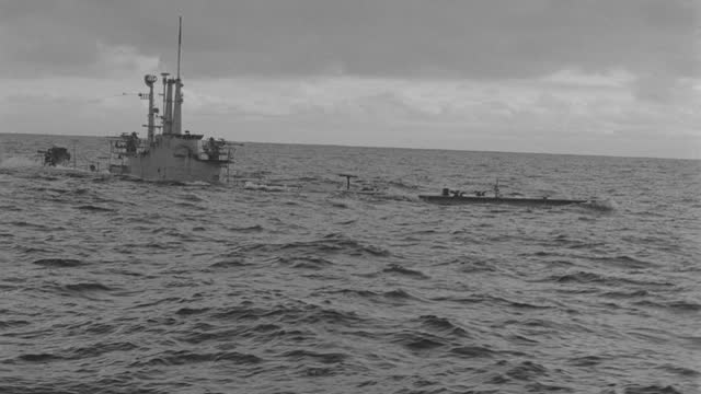 boat point of view of submarine emerging from sea during overcast evening - 50 seconds or greater stock videos & royalty-free footage