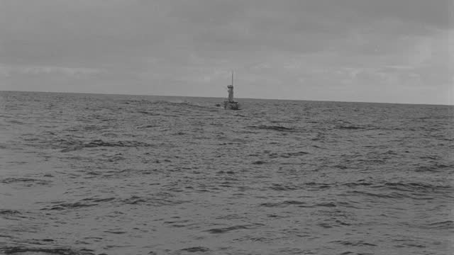 boat point of view of submarine slowly submerging in sea during overcast evening - 50 seconds or greater stock videos & royalty-free footage