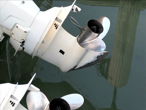 boat propellers and reflections on the water - blade stock videos & royalty-free footage