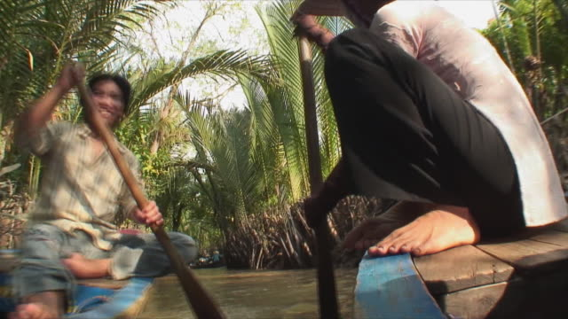 MS LA POV Boat ride down Mekong River, Mekong Delta, Vietnam