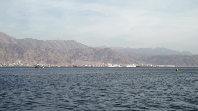 boat ride in the gulf of aqaba - gulf of aqaba stock videos & royalty-free footage