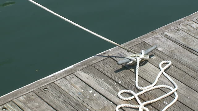 boat rope - pier stock videos & royalty-free footage