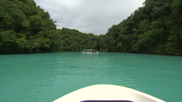 Boat Sailing on the Sea in Palau
