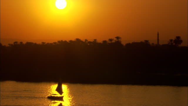 a boat sails on the nile river. - middle east stock videos & royalty-free footage