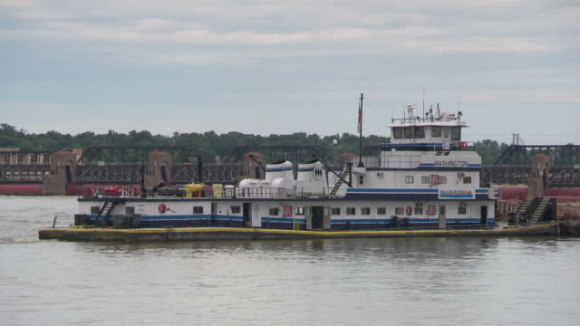 ms boat standing in mississippi river / rock island, minnesota, united states - mark twain stock videos & royalty-free footage