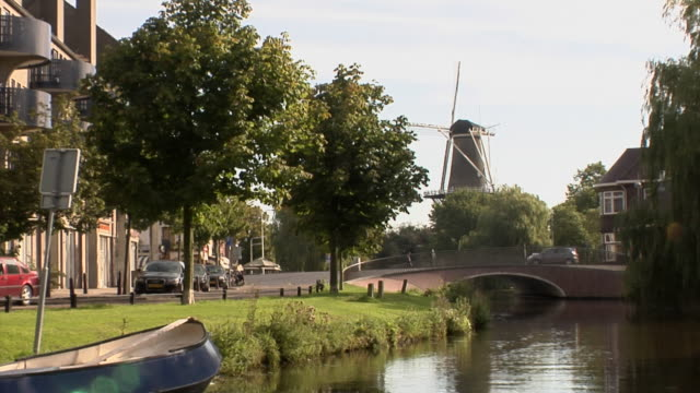 boat tour through leiden - boat point of view stock videos and b-roll footage