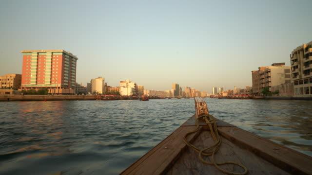 boat trip on the dubai creek - passenger craft stock videos & royalty-free footage