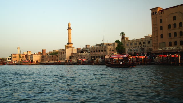 boat trip on the dubai creek - passenger craft stock videos & royalty-free footage