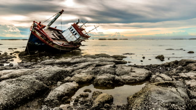 boat wreck - shipwreck stock videos and b-roll footage