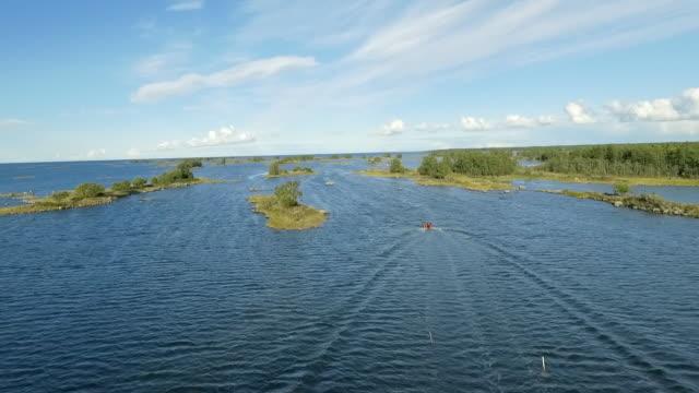 boating in scandinavian archipelago baltic sea - light natural phenomenon stock videos & royalty-free footage