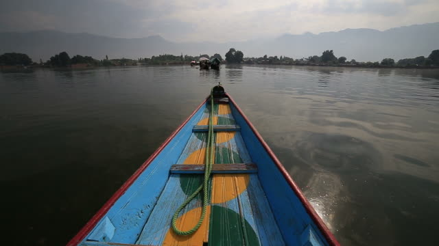 boating on dal lake - sailor stock videos & royalty-free footage