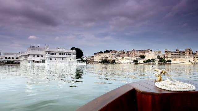 Boating on Lake Pichola in Udaipur India
