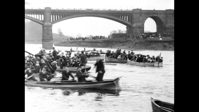 Boating on the Ribble at Preston 1901