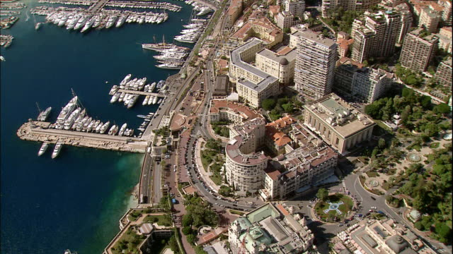 boats and yachts crowd the marina in monte carlo, monaco. - monaco stock videos and b-roll footage