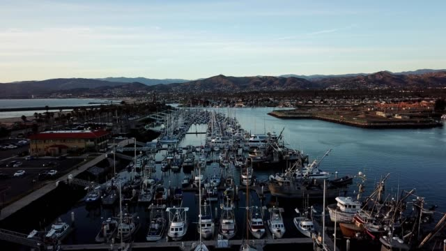 boats and yachts docked in ventura harbor california - ventura stock videos and b-roll footage