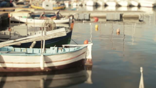 stockvideo's en b-roll-footage met boats at the harbor of alghero, sardinia, italy - cross processen