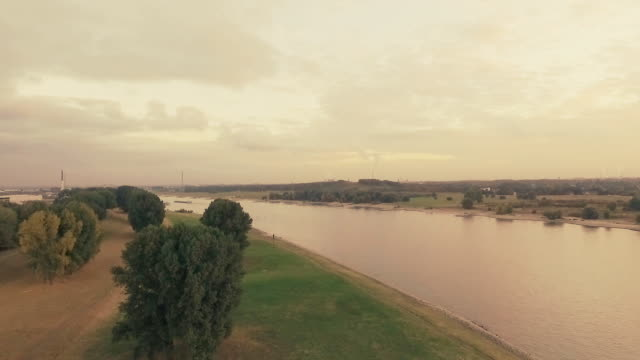boats cruising on the river rhine at sunset - ruhr stock videos & royalty-free footage