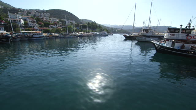 boats docked in harbor - wiese stock videos & royalty-free footage