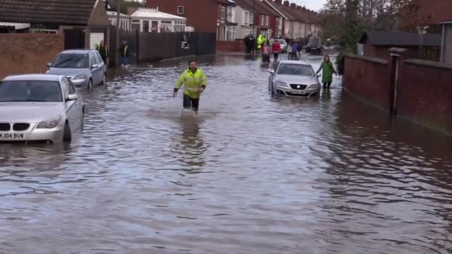 boats have been used to rescue residents in doncaster who were trapped by floodwater. yarborough terrace was left submerged in water after torrential... - rescue stock videos & royalty-free footage