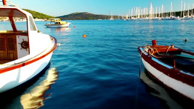 Boats in blue sea
