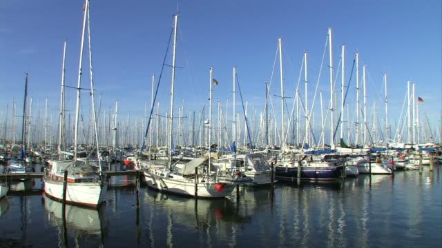 Boats in harbor- Marina Bay, 2 clips