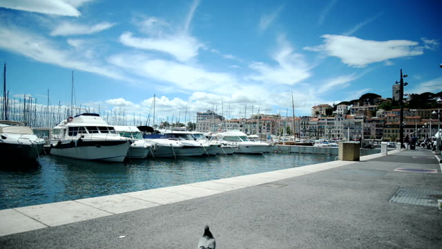 stockvideo's en b-roll-footage met boten in haven. - anchored
