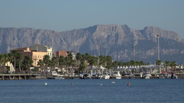 boats in marina of golfo aranci - sassari stock videos & royalty-free footage