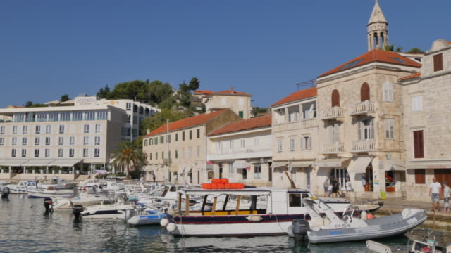Boats in the Port of Hvar, Hvar, Hvar Island, Dalmatia, Croatia, Europe