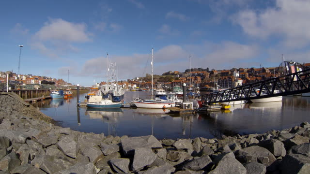 Boats Moored in Whitby Harbor