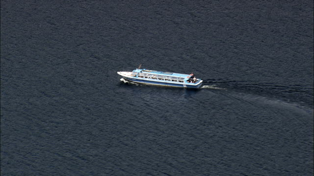 Boats Om Lough Leane  - Aerial View - Munster,  Co Kerry,  helicopter filming,  aerial video,  cineflex,  establishing shot,  Ireland