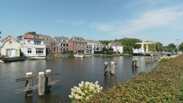 boats on canal and drawbridge - drawbridge stock videos & royalty-free footage
