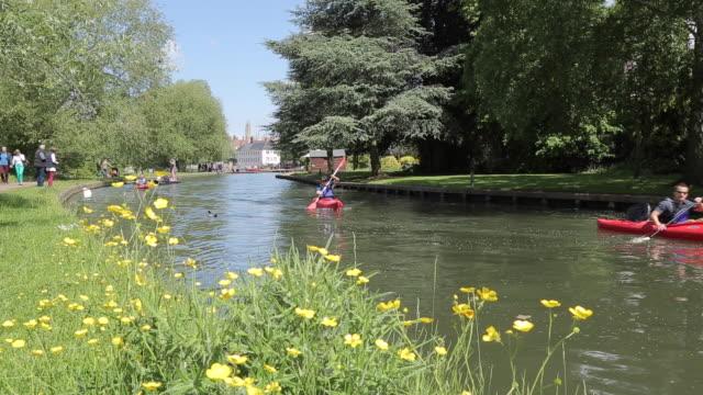 Boats on River Cam, Cambridge, Cambridgeshire, England, UK, Europe