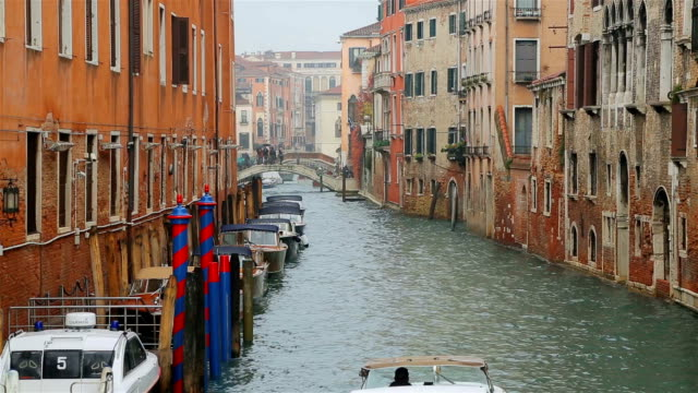 boats on the grand canal of venice, italy. - grand canal venice stock videos & royalty-free footage
