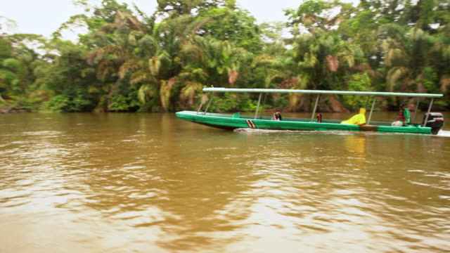 ws boats on the river in costa rica - costa rica stock videos and b-roll footage