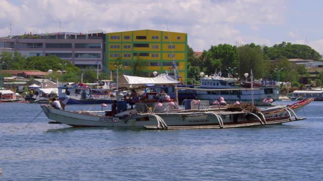 boats puerto princesa palawan, philippines - stabilisers stock videos & royalty-free footage
