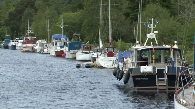 ms boats standing side of river / inverness, highlands, scotland - inverness scotland stock videos & royalty-free footage