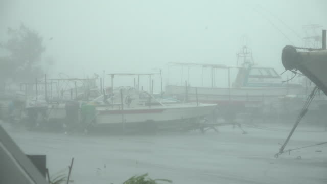 boats tied securely in port as typhoon maria makes landfall in japan in july 2018 - coastal feature stock videos & royalty-free footage