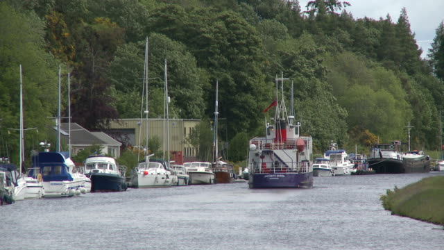 ms boats traveling on river / inverness, highlands, scotland - inverness scotland stock videos & royalty-free footage