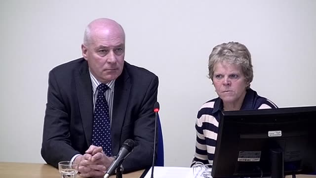 bob and sally dowler the parents of murdered schoolgirl milly say coverage of their walk by the news of the world was an intrusion on a private grief... - 盗聴点の映像素材/bロール