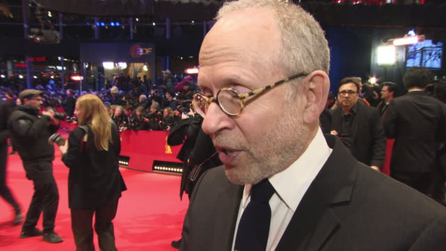 Bob Balaban on pets and the treatment of animals at 68th Berlin Film Festival Isle of Dogs Opening Red Carpet at Berlinale Palast on February 15 2018...