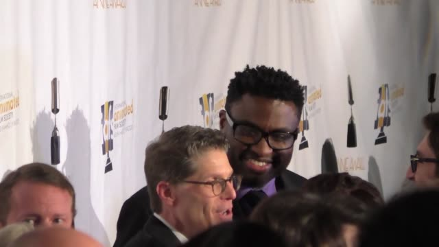 Bob Bergen and MichaelLeon Wooley at the Annie Awards at UCLA's Royce Hall in Westwood at Celebrity Sightings in Los Angeles on February 06 2016 in...