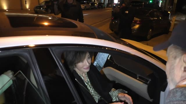 bob costas & jill sutton join anne archer for dinner at craig's restaurant in west hollywood in celebrity sightings in los angeles, - anne archer video stock e b–roll