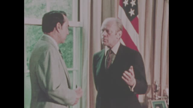 Bob Dole and President Gerald Ford meet in the Oval office