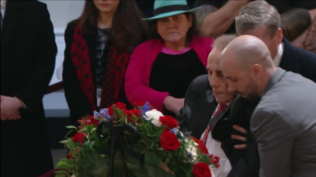 bob dole pays his respects to former president george h.w. bush in the united states capitol rotunda on december 4, 2018. - rotunda stock videos & royalty-free footage