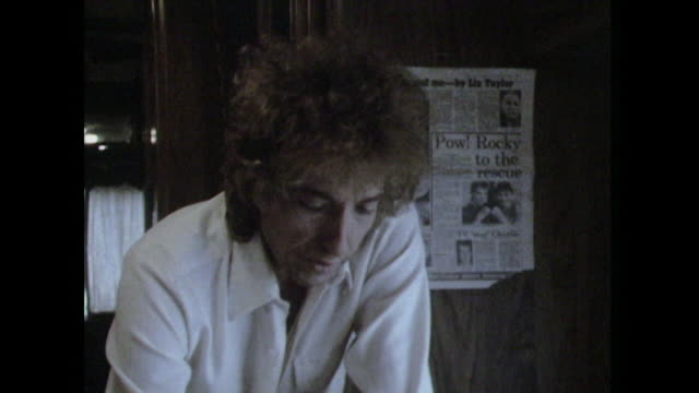 Bob Dylan saying 'I am trying to satisfy your need to probe into my private life and thoughts in a way that's not going to embarrass me or confound...