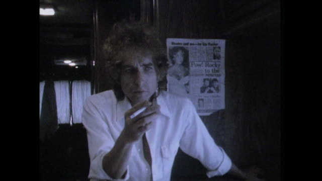 bob dylan saying 'life is short what do most people want from me' - documentary film stock videos & royalty-free footage