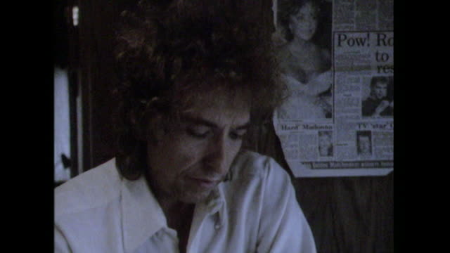 Bob Dylan saying 'to be able to work is what a person should strive after'