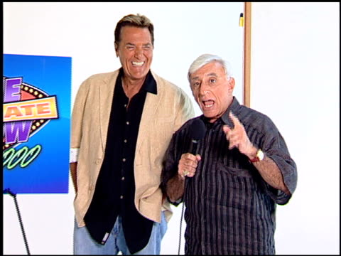 bob eubanks chuck woolery and jamie farr at the legendary game show gurus launch of the '$250000 ultimate game show' at null in los angeles... - game show stock videos and b-roll footage